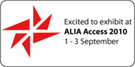 ALIA button for exhibitors